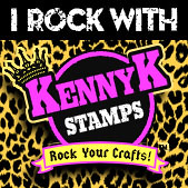 KennyK-stamps-BADGE-IRockWITH giallo