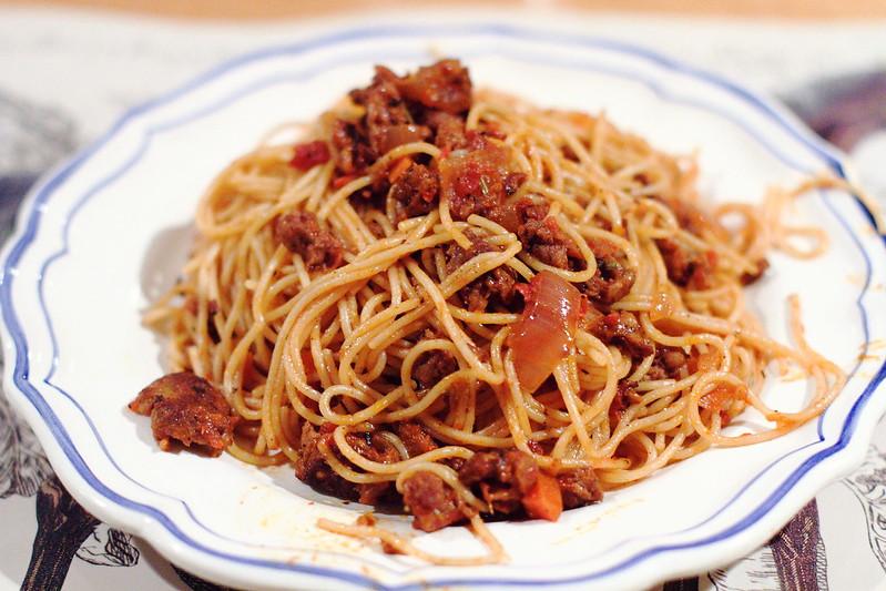 Sunday Dinner: Spicy Sausage Ragu