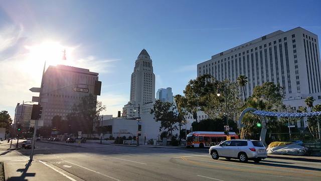 Walking downtown L.A.