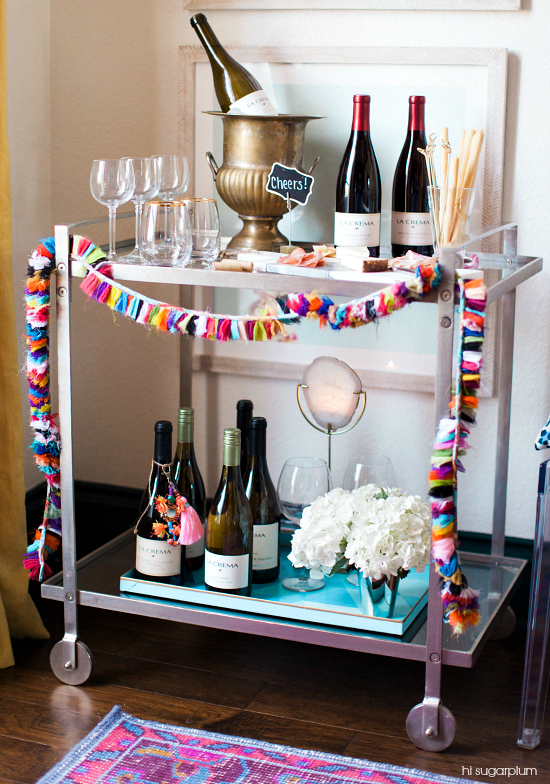 Hi Sugarplum | How to style a bar cart