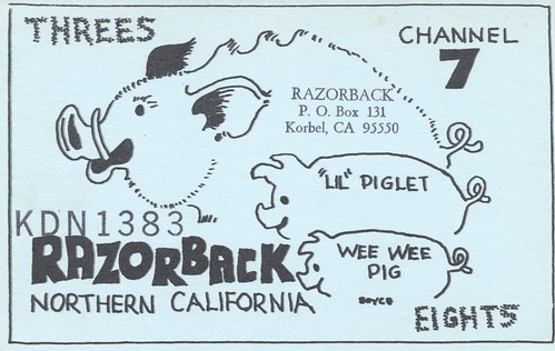 california vintage pig qsl cb hog korbel cbradio qslcard monitor7