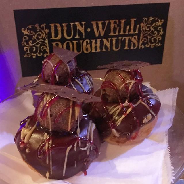 Mocha raspberry donuts #donutfestnyc