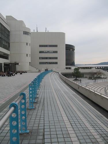 京都競馬場2階のテラス