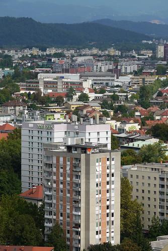The Hotel Park from Ljubljana Castle