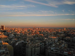 sunset #bcn #catalonia #view #pictureoftheday #nofilters...