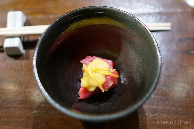 bluefin miso vinaigrette