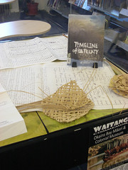 Waitangi Day display at Fendalton Library