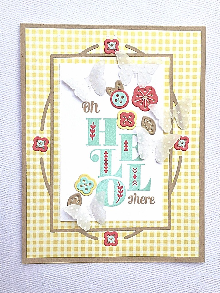 Charmed Cover Plate, Stitched Floral Cluster 1, and Stacked Sentiments by Papertrey Ink
