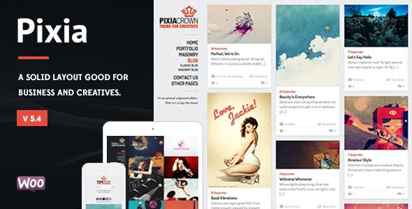 Themeforest Pixia v5.4 – Showcase WordPress Theme
