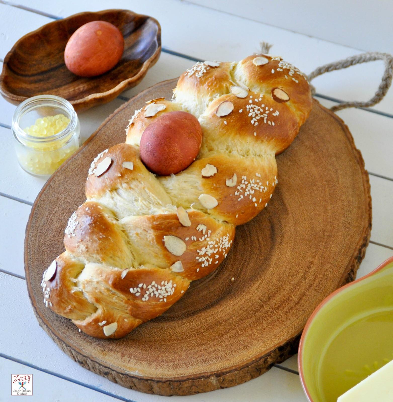 Mediterranean Kitchen Mastic: Tsoureki / Lampropsomo /Greek Easter Bread