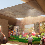 Artist's impression of the child care centre's rooftop