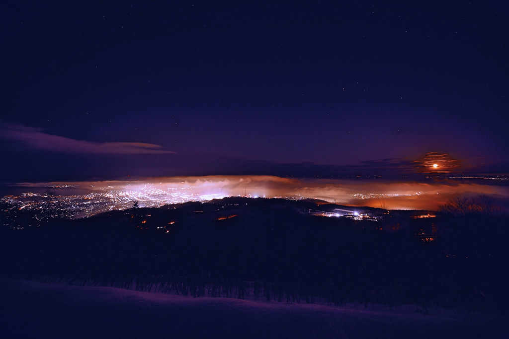 Sea of Cloud in the Night from Mt.Kenashi