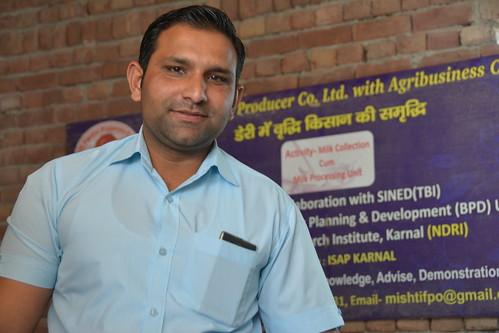 Sanjiv, Karnal village dairy entrepreneur