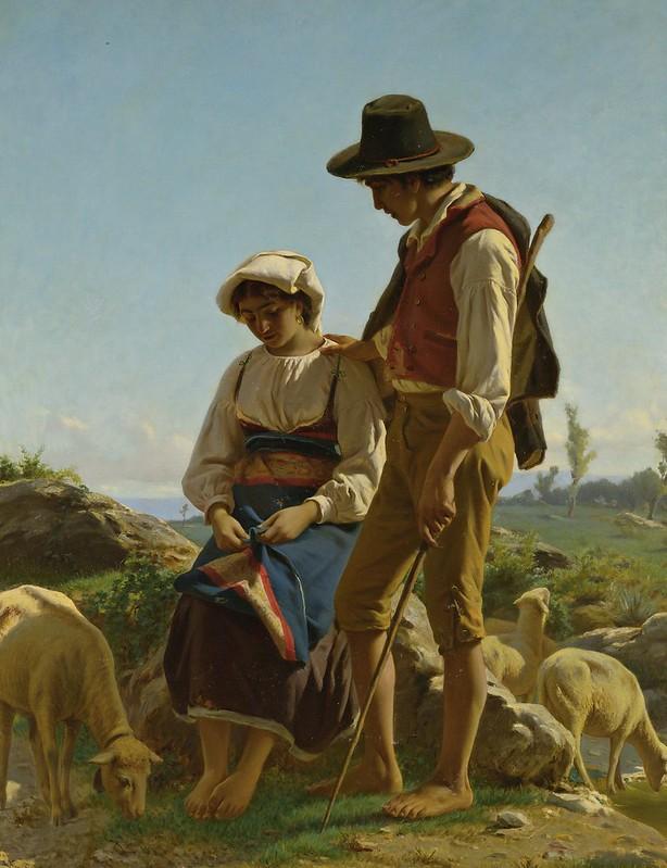 Luigi Bechi - Tending their Flock