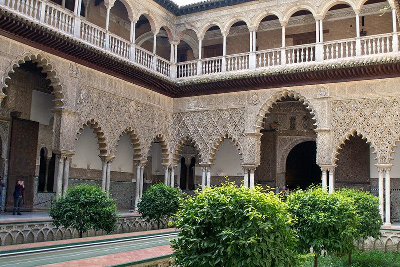 Courtyard of the Maidens, Alcazar of Seville, Spain | packmeto.com