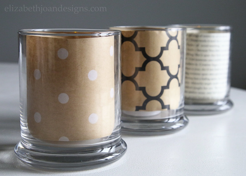 Wrapping Paper Book Page Candle Holder