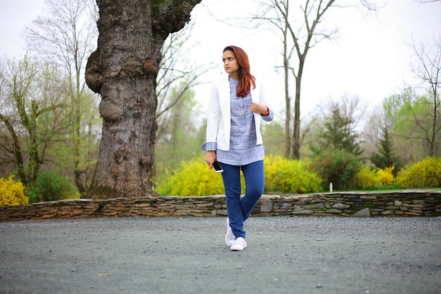 Tunic - Target Jeans - J Brand Blazer - Urban Outfitters Shoes - Converse Clifton Inn Tanvii.com