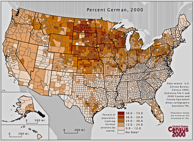No German Ancestry Truly Is The Most Common Us Ancestry Https Www Nytimes Com 2015 09 23 O N America Html