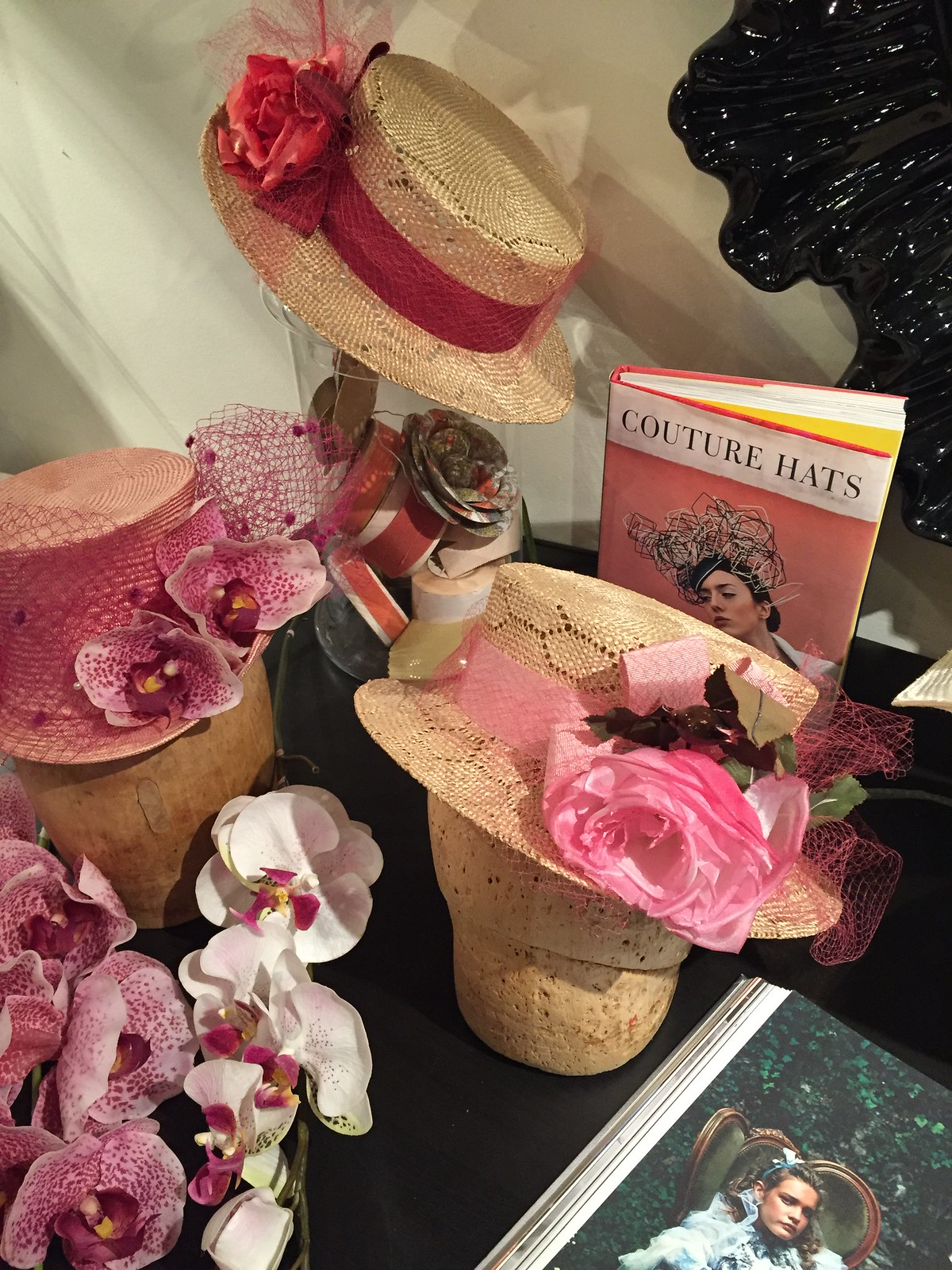 Spring hats from the Saucy Milliner in the Distillery District Toronto
