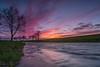 Sonnenuntergang Wümme Südarm in Fischerhude