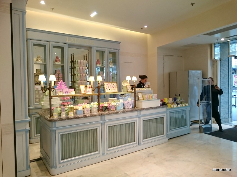 Ladurée shop located inside Galeries Lafayette