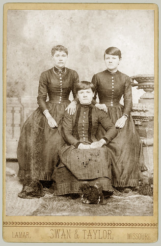 Three Young Women cabinet card