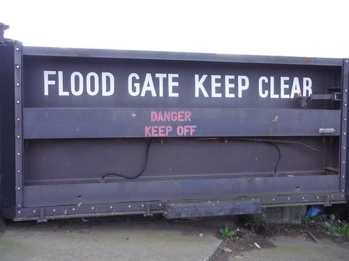 Flood Gate at Smallgains Boatyard, Canvey Island
