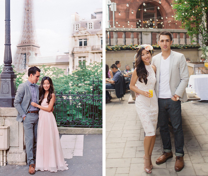 paris engagement photos bridal shower