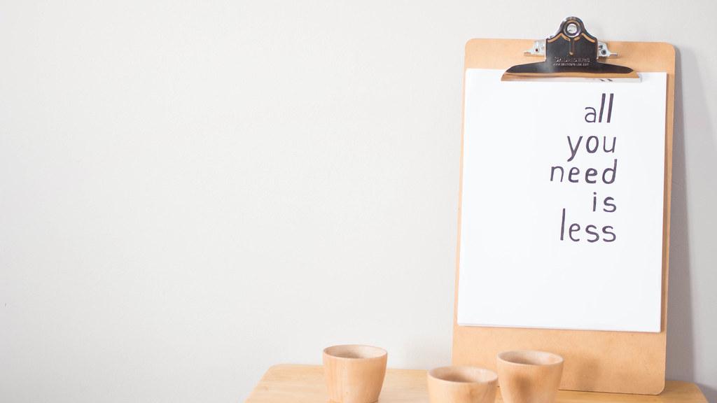 Vers le minimalisme | Un Soupçon de Rose