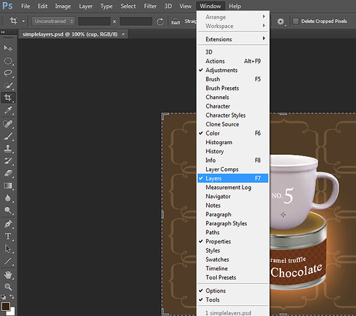 Mengaktifkan Layer Di Photoshop