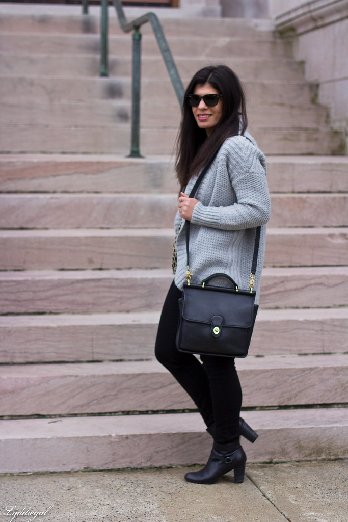grey cardigan, leopard blouse, black denim, coach bag-2.jpg