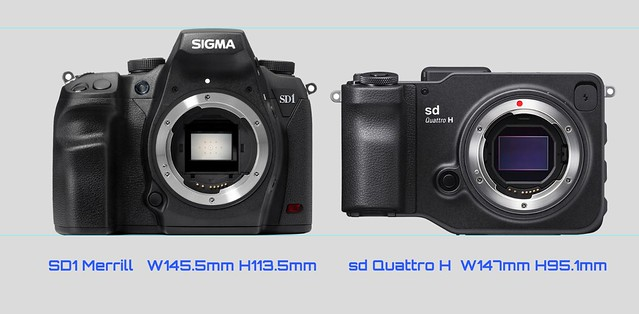 20160223_03_Size comparison of the SIGMA sd Quattro H & SD1 Merrill