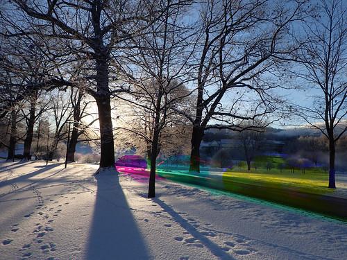 winter snow newyork color colour colors rainbow colours unitedstates hamilton surreal effect aleatoric rainbowcolors intothelight tg4 originalworks harrisshutter thiopheneguy shootthesun thsfeset olympustg4 olympusstylustg4 olympustoughtg4