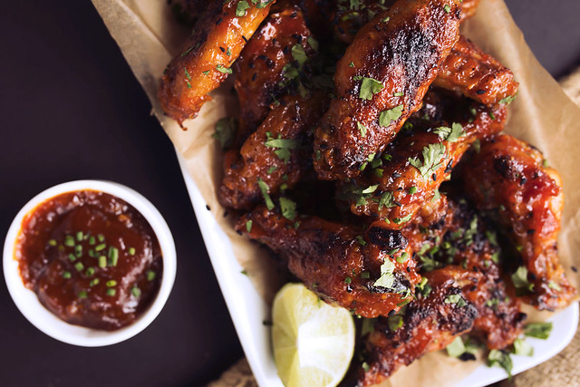 Spicy Orange Sriracha Chicken Wings