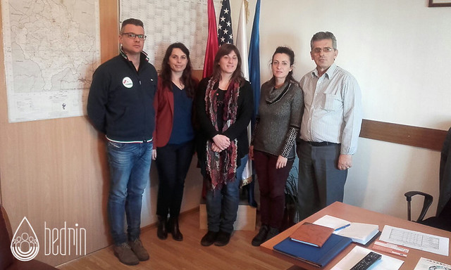 Meeting with 112 operation centre in Pristina talking about emergency call system in Kosovo