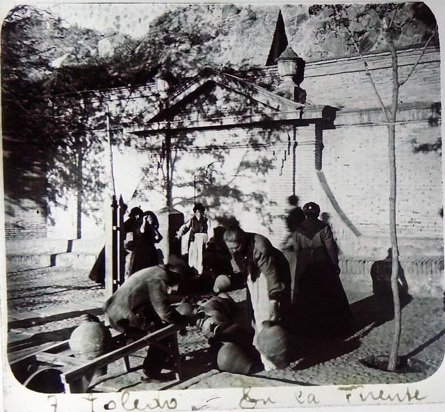 Fuente Nueva del Paseo de la Rosa. Fotografía de Francisco Rodríguez Avial hacia 1910 © Herederos de Francisco Rodríguez Avial