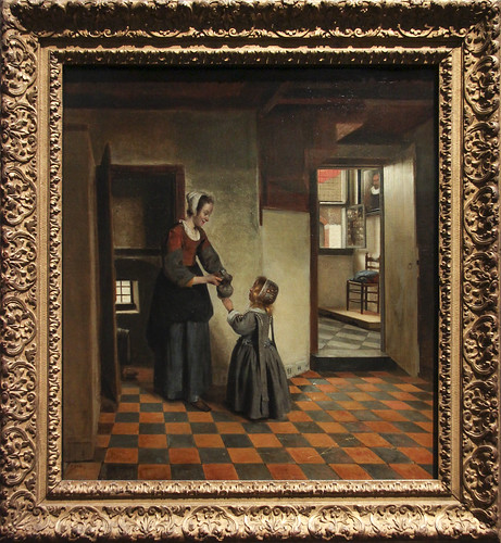 Woman with a Child in a Pantry, Pieter de Hooch, c.1656-60