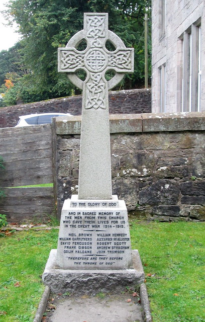 War Memorial, West Bridgend Church, Dumbarton