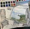 #castellodimiramare #miramare #trieste #mysketch #sketching #urbansketch #irbansketcher #urbansketchers #sketch #sketcher #drawing #train #viewfromthetrain #fromthetrain #castel #castle #castello