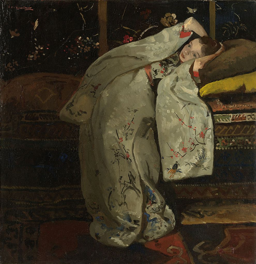 Girl in a White Kimono by George Hendrik Breitner, 1894