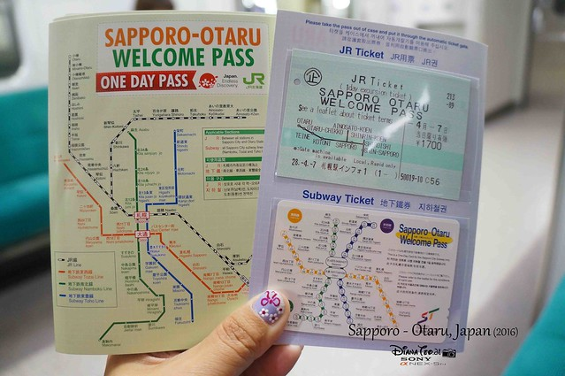2016 Japan, Sapporo Otaru Welcome Pass