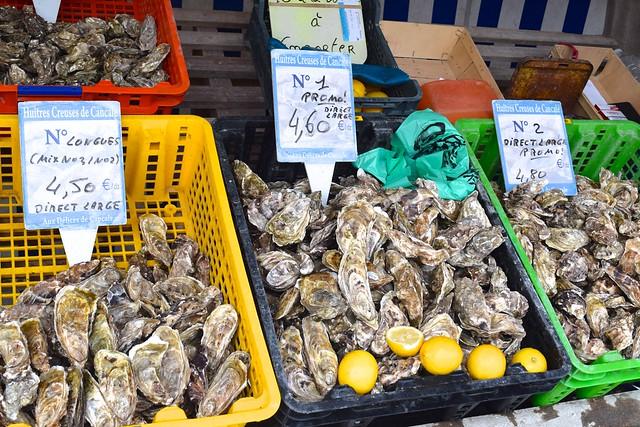 Market Oysters in Cancale, Brittany | www.rachelphipps.com @rachelphipps