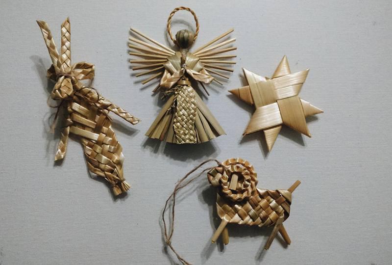 Ukrainian straw decorations