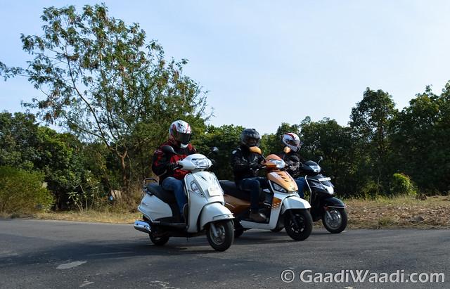 Mahindra Gusto125 vs Activa125 vs Suzuki access 125 -14