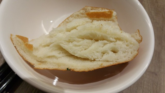2016-Jan-22 Dinesty Dumpling House Burnaby - fried bun with condensed milk - fluffy bread detail