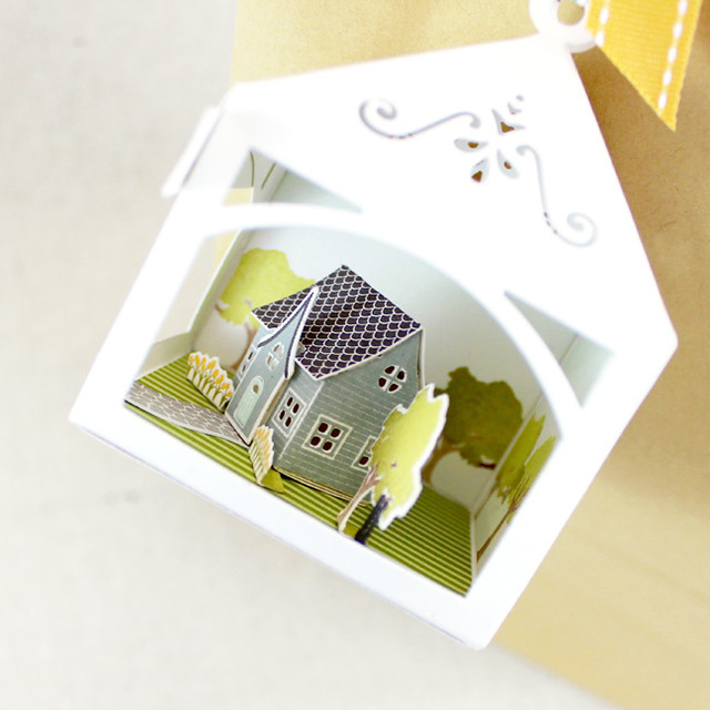 Petite Places Happy New Home 3D Tag House Side View
