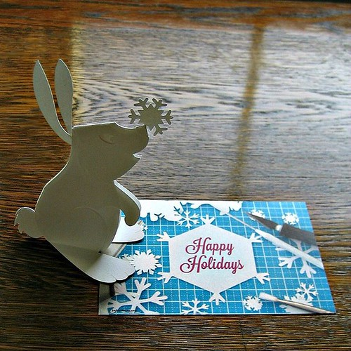 Cut Paper Winter Rabbit