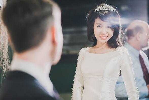 Giny,台北新娘秘書,愛瑞思造型團隊,台北菠啾花園,歐美新娘造型,美式婚禮,自然妝感,新秘推薦,新娘造型,黑髮造型