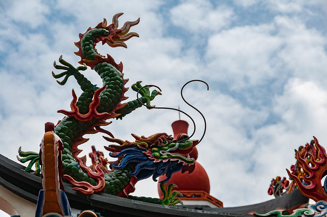 Dragon guarding a temple
