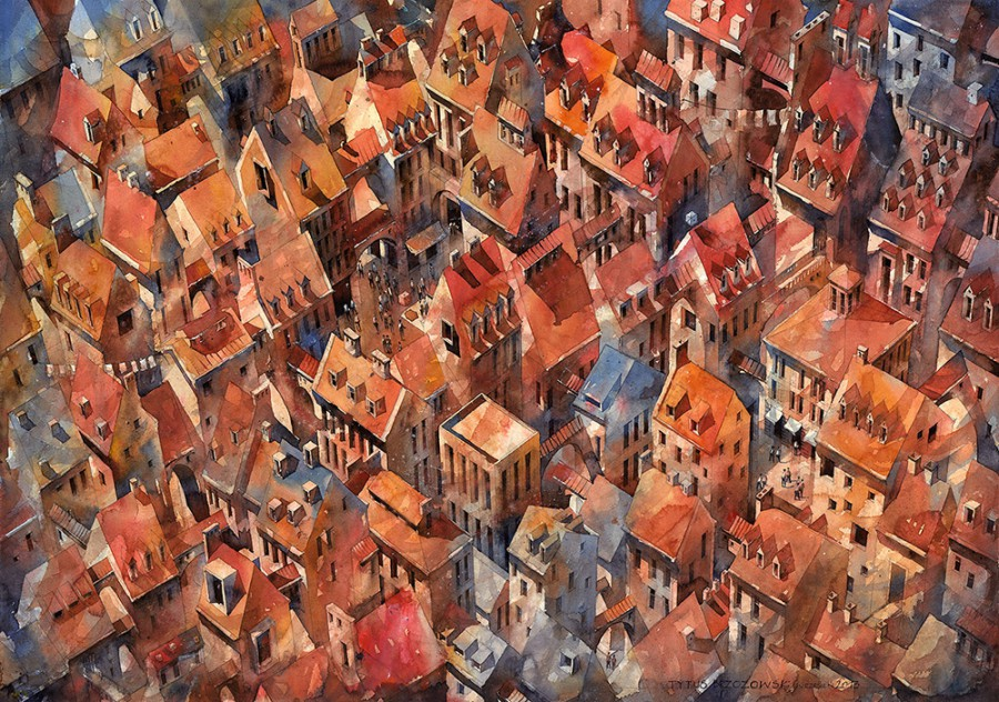 Architectural Watercolor Paintings by Tytus Brzozowski